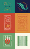 Mexican set Insignias — Vetorial Stock