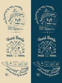 Vintage Badges Set — Stock Vector