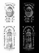 Módním Vintage odznaky — Stock vektor