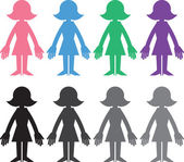 Woman Silhouette Colors — Vecteur