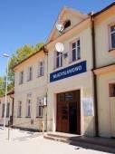 Construcción de estación de ferrocarril en wladyslawowo — Foto de Stock