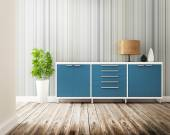 Cabinet and furniture of interior decorated — Stockfoto