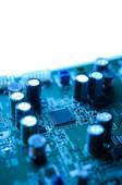 Chip and capacity on electronic board — Stock Photo