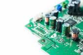 Closeup of capacity on electronic board — Stock Photo