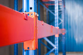 Steel shelf of Industrial tool closeup — Stock Photo