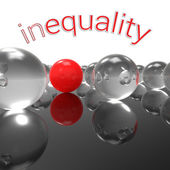 Inequality — Stockfoto