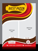 Pizza Store Flyer Template — Stock Vector