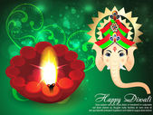 Deepawali Background with ganesha g — Stock Vector