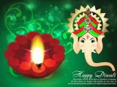 Deepawali Background with ganesha g — Stock Vector