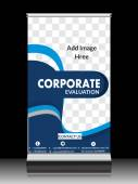 Corporate  Roll Up Stand — Stock Vector