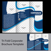 Tri fold corporate brochure template — Stock Vector