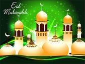 Fondo abstracto eid mubarakh — Vector de stock