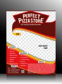 Perfect Pizza Store Flyer Template — Stock Vector