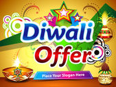 Diwali offer background — Stock Vector