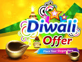 Colorful diwali sale background — Stock Vector