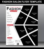 Fashion Salon Flyer Template — Vettoriale Stock