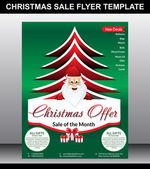 Christmas Sale flyer Template — Stock Vector