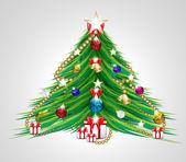 Vektor illustration av julgran — Stockvektor