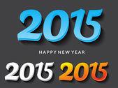 Frohes neues Jahr 2015 Text vektor-illustration — Stockvektor
