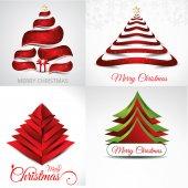 Christmas background set illustration — Stock Vector