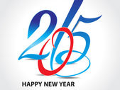 Colorful happy new year 2015 text background  — 图库矢量图片