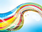 Vector illustration of colorful wave background — Stock Vector