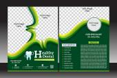 Health flyer template design — Stock Vector