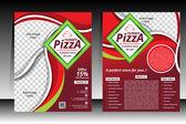 Piizza Flyer design template vector illustration  — Stock Vector