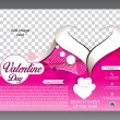 Valentine day flyer template — Stock Vector #62649473