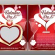 Happy valentine day flyer template — Stock Vector #63283531