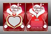 Happy valentine day flyer template — Stock Vector
