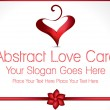 Abstract Love Card Design Illustration — Stock Vector #64079433
