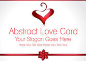 Abstract Love Card Design Illustration — Stock Vector