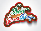 Colorful happy birthday text background  — Stockvector