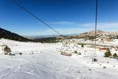 在滑雪场的滑雪缆车 — 图库照片