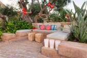 Relaxing area in a garden — Stock Photo