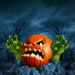 Zombie Pumpkin — Stock Photo #51850843