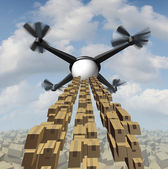 Drone Cargo Delivery — Stock Photo
