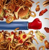 Fitness Diet Fight — Stock Photo
