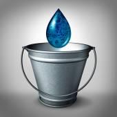 Drop In The Bucket — Stock Photo