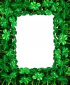 Clover Leaf Frame border — Stock Photo