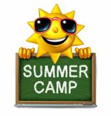 Summer Camp Message — Stock Photo