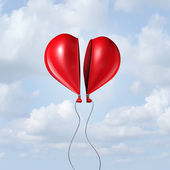 Balloon Heart Together — Stock Photo