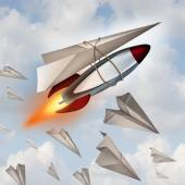 Paper Airplane Concept — Stock Photo