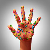Hand Germs — Stock Photo
