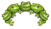 Frog Group Sign — Stock Photo