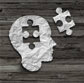 Puzzle Head — Stock Photo