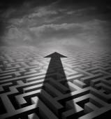 Pilen labyrint — Stockfoto