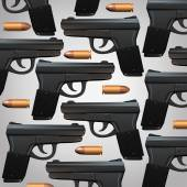 Gun And Bullet Background — Stock Photo