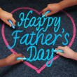 Happy Fathers Day Children — Stock Photo #74144489
